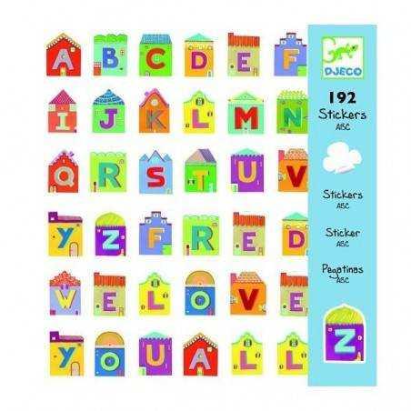 Adesivi Lettere 160 pz. Djeco Djeco - 1