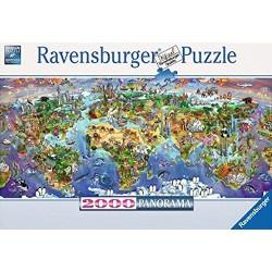 PUZZLE ravensburger MERAVIGLIE DEL MONDO panorama ORIGINALE softclick 2000 PEZZI 132x61cm Ravensburger - 1