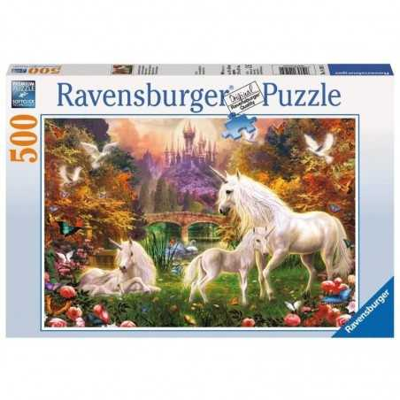 PUZZLE ravensburger MAGICI UNICORNI unicorns ORIGINALE softclick 500 PEZZI 49 x 36 cm Ravensburger - 1