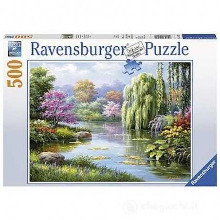 PUZZLE ravensburger VISTA ROMANTICA DELLO STAGNO softclick ORIGINALE 49 x 36 cm 500 PEZZI Ravensburger - 1