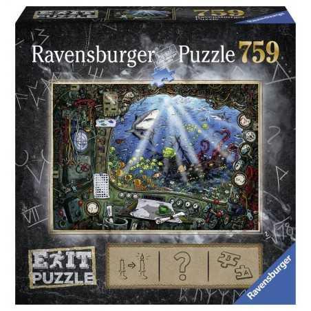 PUZZLE ESCAPE ravensburger SOTTOMARINO exit games 759 PEZZI 70 x 50 cm Ravensburger - 1