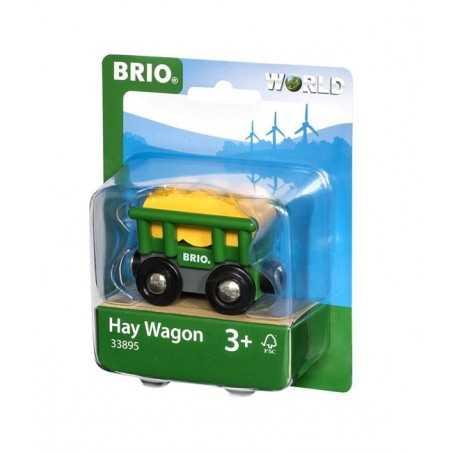 VAGONE PER IL FIENO treni in legno BRIO trenino 33895 hay wagon WORLD età 3+ BRIO - 1