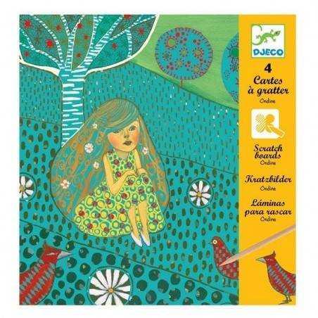 CARTE DA GRATTARE ONDINE  DJECO kit creativo per bambini dj09722 Djeco - 1