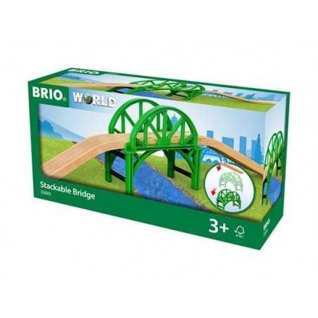 PONTE IMPILABILE treni in legno BRIO trenino 33885 stackable bridge WORLD età 3+ BRIO - 1