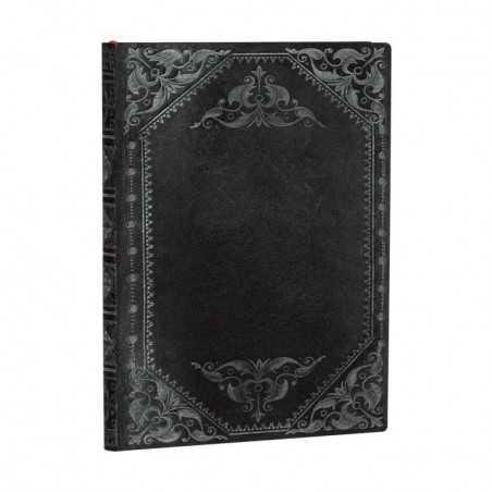 Diario flexi bianco RIBELLE DI MEZZANOTTE midi cm 13x18 Paperblanks 176 pagine notebook flessibile taccuino Paperblanks - 1