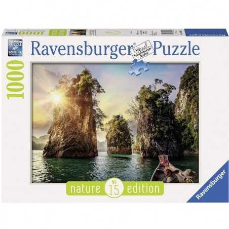 PUZZLE ravensburger LE ROCCE DI CHEOW LAN THAILANDIA 1000 pezzi NATURE EDITION 15 originale 50 x 70 cm Ravensburger - 1
