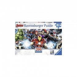 PUZZLE 200 PEZZI ravensburger AVENGERS panorama MARVEL perfect age fit 57 X 24 CM età 8+ Ravensburger - 1