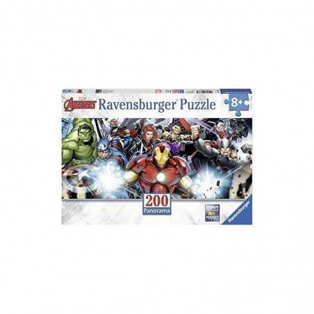 PUZZLE 200 PEZZI ravensburger AVENGERS panorama MARVEL perfect age fit 57 X 24 CM età 8+ Ravensburger - 1