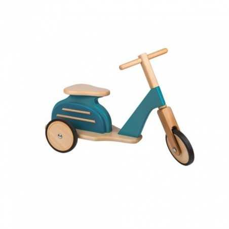 VESPA in legno BLU scooter MOULIN ROTY moto MEMOIRE D'ENFANT retro 720706 per bimbi fino a 25 kg Moulin Roty - 1