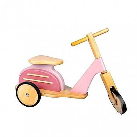 VESPA in legno ROSA scooter MOULIN ROTY moto MEMOIRE D'ENFANT retro 720926 per bimbi fino a 25 kg Moulin Roty - 1