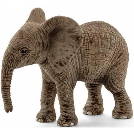 ELEFANTE AFRICANO CUCCIOLO animali in resina SCHLEICH miniature 14763 wild life ELEPHANT età 3+ Schleich - 1
