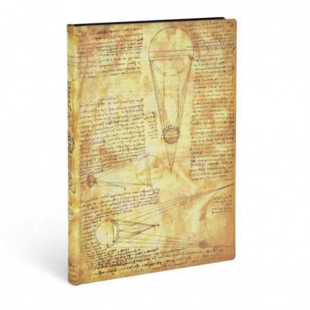 Diario flexi a righe SOLE E CHIARO DI LUNA Leonardo midi cm 13x18 Paperblanks 176 pagine notebook flessibile taccuino Paperblank