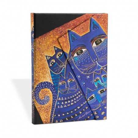 Diario a righe GATTI MEDITERRANEI mini cm 10x14 PAPERBLANKS 176 pagine taccuino notebook Paperblanks - 1