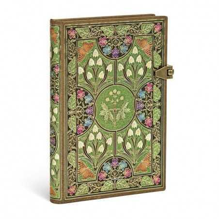 Diario bianco POESIA IN FIORE mini cm 10x14 - PAPERBLANKS 208 pagine taccuino notebook Paperblanks - 1
