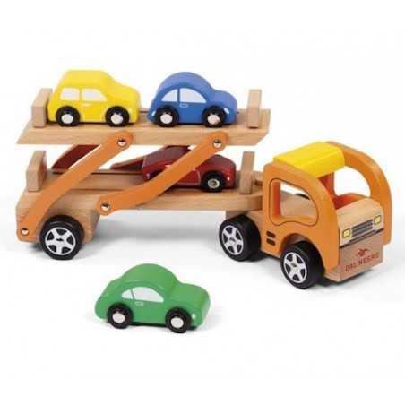 ALLEGRA BISARCA in legno DAL NEGRO cuccioli MEZZI DI TRASPORTO camion MACCHININE età 3+ DAL NEGRO - 1