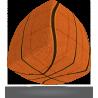 V-CUBE 3 cubo di rubik BASKETBALL nuovo design ROMPICAPO bombato BASKET pallacanestro 3X3 età 6+ DAL NEGRO - 3