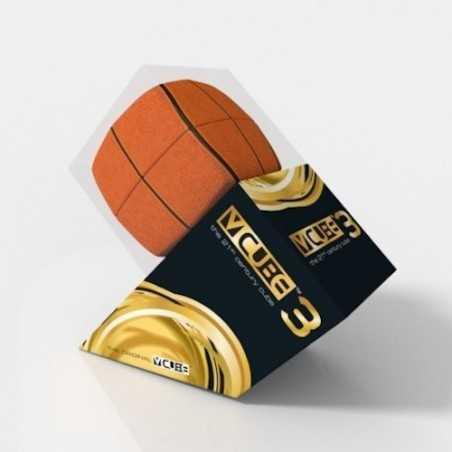 V-CUBE 3 cubo di rubik BASKETBALL nuovo design ROMPICAPO bombato BASKET pallacanestro 3X3 età 6+ DAL NEGRO - 1
