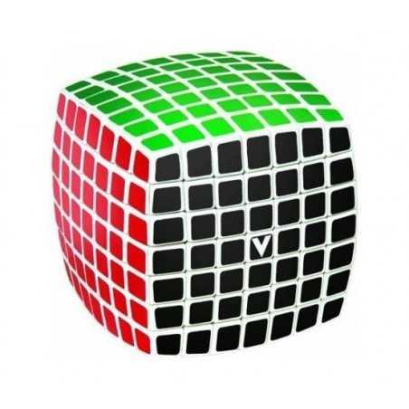 V-CUBE 7 cubo di rubik ROMPICAPO nuovo design BOMBATO solitario VERDES classico 7X7 età 6+ DAL NEGRO - 1