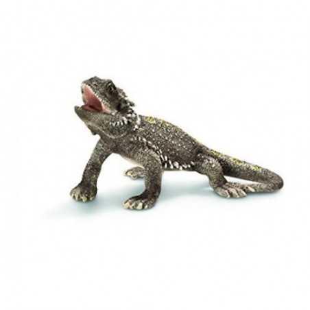 POGONA animali in resina SCHLEICH miniature 14675 Wild Life DIPINTO A MANO drago barbuto RETTILE età 3+ Schleich - 1