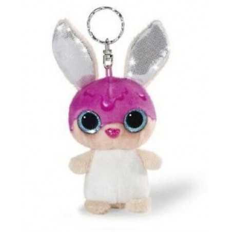 PORTACHIAVI CONIGLIETTO CLASSIC nici PELUCHE porta chiavi ROSA morbido CONIGLIO gadget 10 CM rabbit NICI - 1