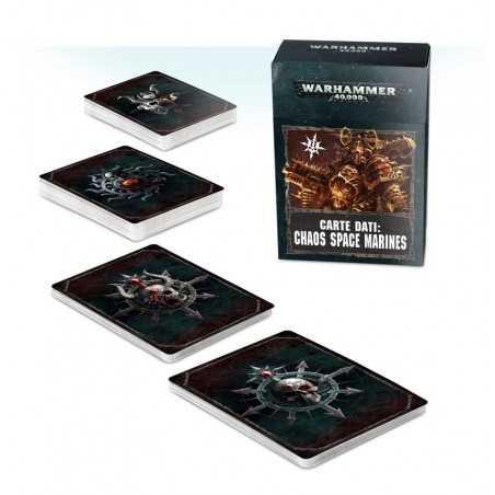 CHAOS SPACE MARINES CARTE DATI Warhammer 40k 40,000 data cards Games Workshop - 1