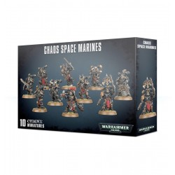 CHAOS SPACE MARINES Warhammer 40k 10 miniature Citadel 40,000 data cards Games Workshop - 1