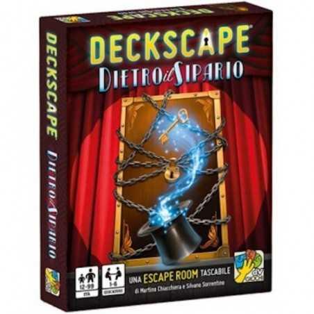 Deckscape DIETRO IL SIPARIO dvgiochi ESCAPE ROOM gioco di carte ROMPICAPO DaVinci TASCABILE età 12+ daVinci Games - 1