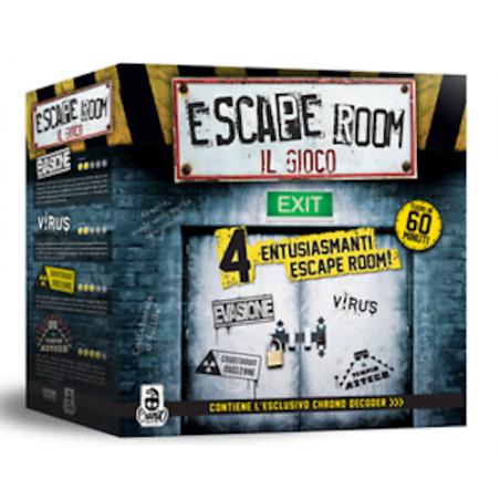 ESCAPE ROOM - IL GIOCO Cranio Creations ROMPICAPO cooperativo 60 MINUTI 4 sfide CON CHRONO DECODER età 12+ Cranio Creations - 1