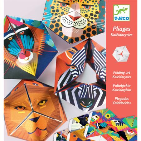 4 CALEIDOCICLI in cartone colorato FLEXANIMALI facce animali DJECO kit artistico DJ09661 età 7+ Djeco - 1