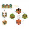 4 CALEIDOCICLI in cartone colorato FLEXORRIPILANT facce mostri DJECO kit artistico DJ09660 età 7+ Djeco - 1