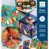 4 CALEIDOCICLI in cartone colorato FLEXORRIPILANT facce mostri DJECO kit artistico DJ09660 età 7+ Djeco - 2