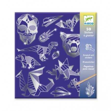 ADESIVI DA GRATTARE stickers FERRO animali e simboli DJECO kit artistico DJ09737 età 6+ Djeco - 1