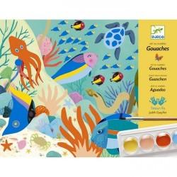 TEMPERE NATURAL WORLD colori ARTE AL NUMERO kit artistico DJECO animali DJ08965 età 7+ Djeco - 1