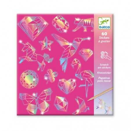 CARTE DA GRATTARE stickers DIAMANTE animali e simboli DJECO kit artistico DJ09736 età 6+ Djeco - 1