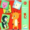MEMO PUZZLE ANIMALI 30 PEZZI ARANCIONE animali DJECO kit artistico DJ08126 età 3+ Djeco - 1