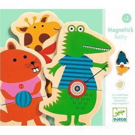 MAGNETIC BELTY in legno DJECO 24 pezzi DJ03114 gioco INCASTRI associazione CINTURE età 2+ Djeco - 1