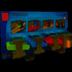 QUADRILLA 4 BLOCCHI MULTIPLI Hape E6025 Controlo-Block Multipack Hape - 1