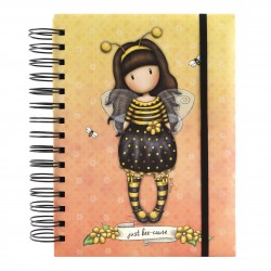 NOTEBOOK ORGANIZER journal BEE LOVED just bee cause GIALLO gorjuss 201GJ08 santoro london Gorjuss - 1