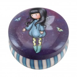 SCATOLINA IN LATTA trinket tin GROJUSS porta oggetti in metallo BUBBLE FAIRY santoro 242BF london VIOLA Gorjuss - 1