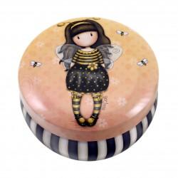 SCATOLINA IN LATTA trinket tin GROJUSS porta oggetti in metallo BEE LOVED santoro 242JB london GIALLO Gorjuss - 1