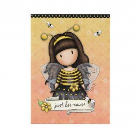 BLOCCO MEMO block notes BEE LOVED gorjuss SANTORO london 910GJ01 a righe GIALLO 250 fogli Gorjuss - 1