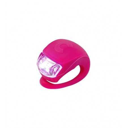LUCE monopattino LED di sicurezza ROSA silicone flessibile MICRO light RESISTENTE ALL'ACQUA tre regolazioni Micro - 1