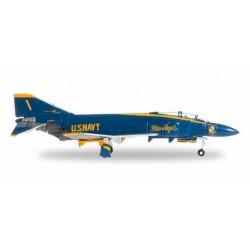 US NAVY MCDONNEL DOUGLAS F-4J PHANTOM II N.1 aereo in metallo HERPA WINGS 556415 modellino scala 1:200 Herpa - 1