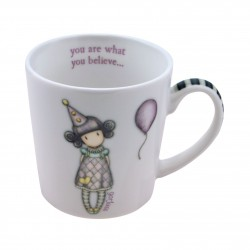 MUG tazza gorjuss PIERROT you are what you believe SMALL london 932GJ03 lavastoviglie SANTORO microonde Gorjuss - 1