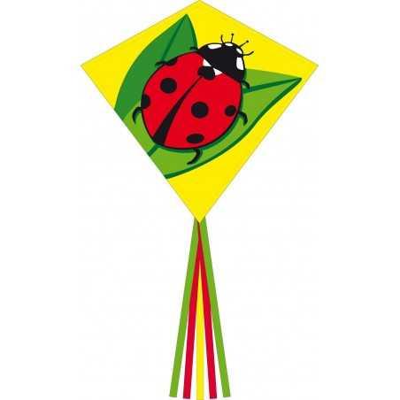AQUILONE ready to fly EDDY LADYBUG single line kites INVENTO HQ diamond COCCINELLA codice 100069 età 5+ Invento HQ - 1