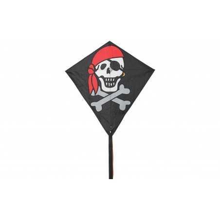 AQUILONE ready to fly EDDY JOLLY ROGER single line kites INVENTO HQ diamond PIRATI codice 100053 età 5+ Invento HQ - 1