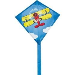 AQUILONE single line kite MINI EDDY BIPLANE ready to fly INVENTO HQ codice 100016 età 5+ Invento HQ - 1