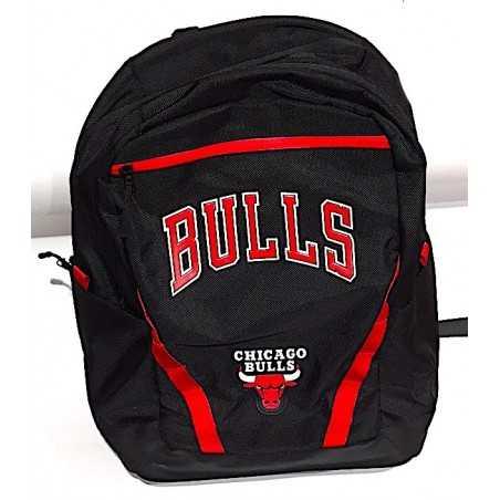 ZAINO organizzato NBA chicago BULLS backpack NERO panini 2019-2020 scuola BASKET tempo libero Franco Panini Ragazzi - 1