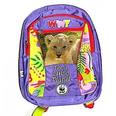 ZAINO asilo WWF backpack GIRL for a living planet 2019-2020 scuola JUNGLE panini VIOLA Franco Panini Ragazzi - 1