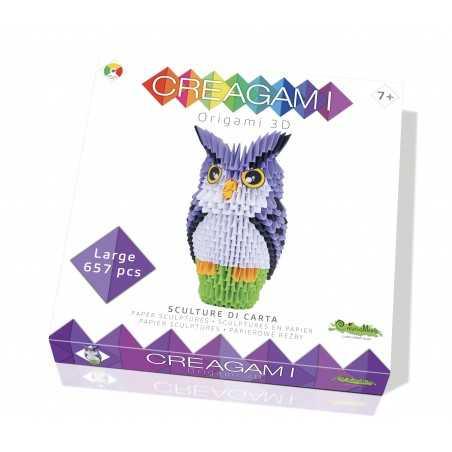 CREAGAMI GUFO L carta da piegare 657 pezzi Creativamente made in Italy Creativamente - 1
